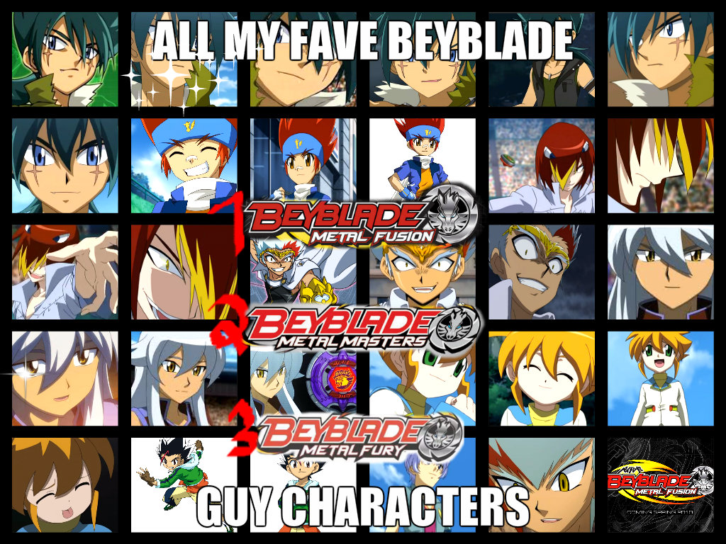 My fave beyblade guy characters