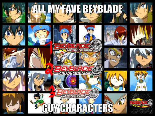 Beyblade Metal Fusion wallpaper containing a stained glass window called My fave beyblade guy characters