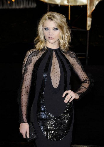 """Natalie Dormer wallpaper probably with a blouse entitled """"The Hunger Games: Catching Fire"""" - UK Premiere"""