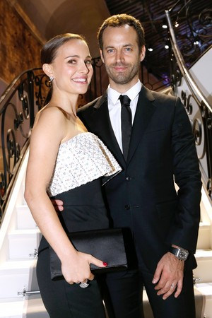 Attending the 'Esprit Dior, Miss Dior' exhibition opening at the Grand Palais in Paris, France (