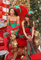 Naya and Lea filming upcoming Christmas Episode - glee photo