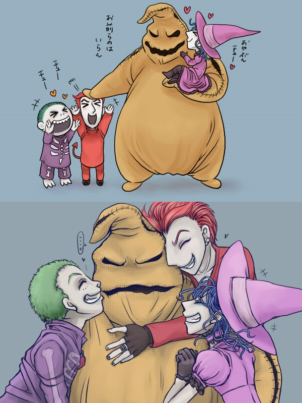 Oogie Boogie with Lock, Shock and Barrel