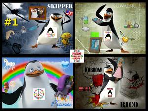 POM penguin character poster