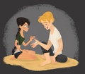 Peeta and Katniss ☺ - peeta-mellark-and-katniss-everdeen fan art