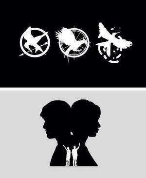 Peeta and Katniss ツ