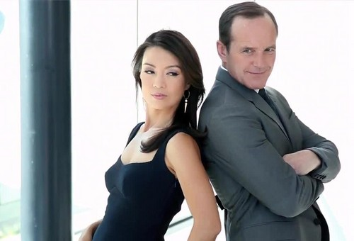 Phil Coulson & Melinda May wallpaper with a well dressed person called Clark Gregg & Ming-Na Wen (Phil Coulson & Melinda May) - Agents of S.H.I.E.L.D.
