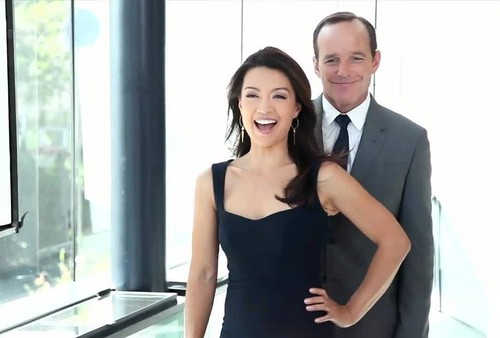 Phil Coulson & Melinda May wallpaper called Clark Gregg & Ming-Na Wen (Phil Coulson & Melinda May) - Agents of S.H.I.E.L.D.