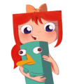 Platypus cuddles - phinbella-new fan art