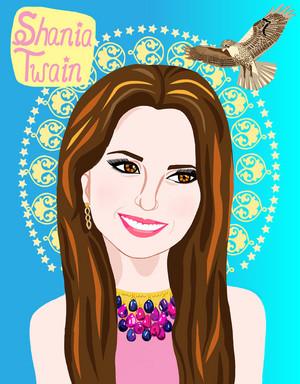 Portrait of Shania Twain