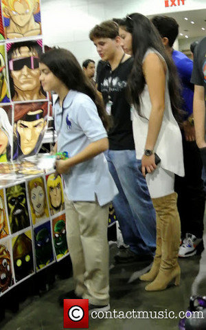 Prince and Blanket Jackson visiting the Comikaze Expo at the Los Angeles Convention Center {Nov 2}