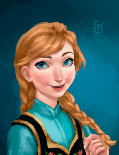 Princess Anna wallpaper possibly containing a portrait entitled Anna