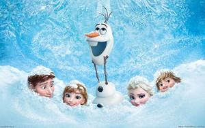 Frozen achtergrond