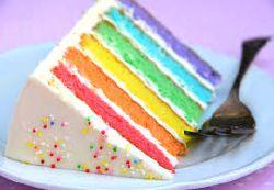 রামধনু cake!