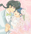 Ranma and Akane - Happy Wedding - ranma-1-2 fan art