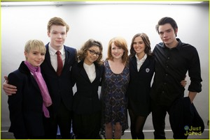 Richelle Mead with the Cast