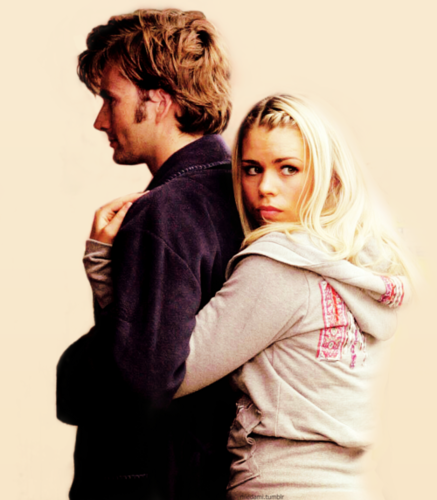 Rose Tyler वॉलपेपर probably with a well dressed person, an outerwear, and a portrait titled Rose x Doctor