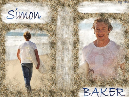 Simon Baker wallpaper probably with a sign and a street titled SIMON BAKER
