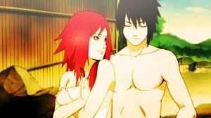 Sasuke and Karin at the Hot Springs