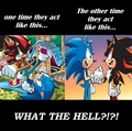 Sonic vs Shadow of Sonic vrienden with Shadow??