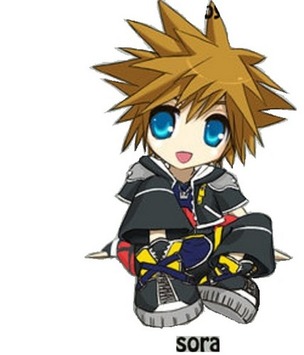 Kingdom Hearts 2 fond d'écran probably containing animé called Sora chibi
