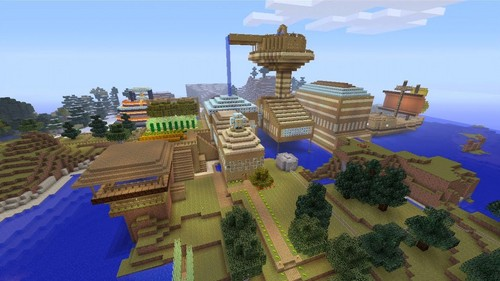 Stampylongnose wolpeyper containing a business district entitled Stampy's lovely world