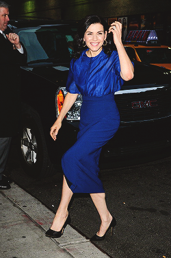 Julianna Margulies arrives for the 'Late Show with David Letterman' at Ed Sullivan Theater