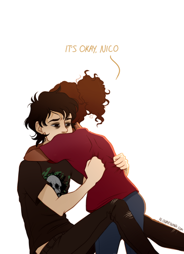 The Heroes of Olympus achtergrond possibly with a hip boot and anime called Nico and Hazel