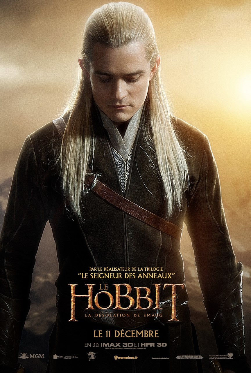 The Hobbit: The Desolation of Smaug French Poster - Legolas