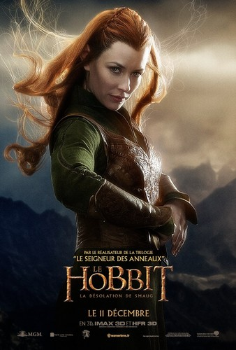 द हॉबिट वॉलपेपर with a portrait called The Hobbit: The Desolation of Smaug French Poster - Tauriel
