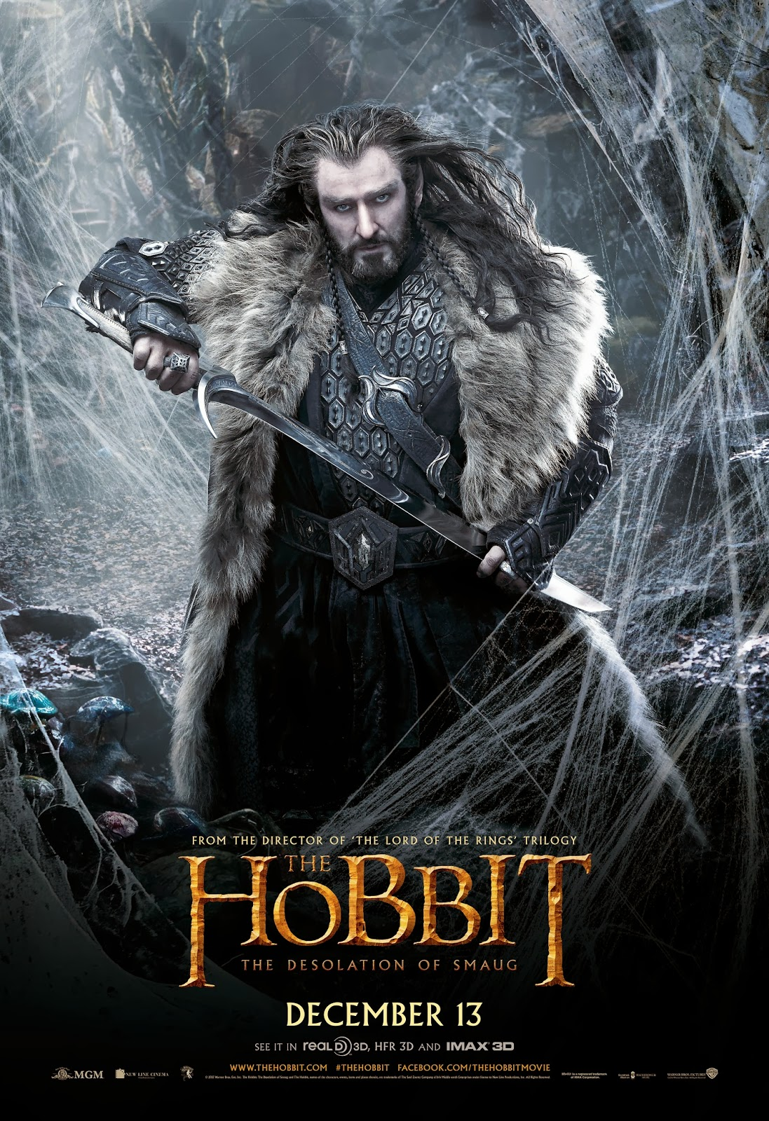 The Hobbit: The Desolation of Smaug International Poster - Thorin Oakenshield