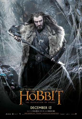 द हॉबिट वॉलपेपर titled The Hobbit: The Desolation of Smaug International Poster - Thorin Oakenshield