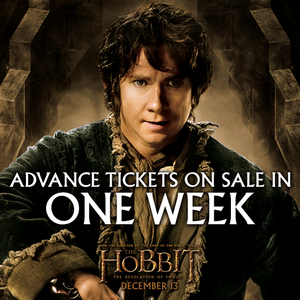 The Hobbit: The Desolation of Smaug - Advance Tickets on Sale in ONE WEEK