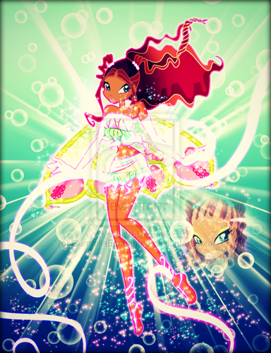 Winx Club fond d'écran probably with animé titled Winx in Transformation: Enchantix (Layla)