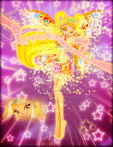 Winx Club fond d'écran called Winx in Transformation: Enchantix (Stella)