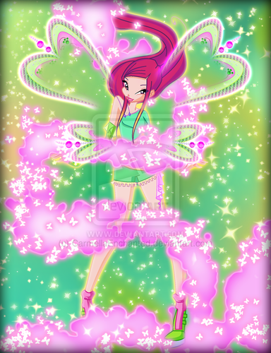 윙스 클럽 바탕화면 containing a sign called Winx in Transformation: Believix (Roxy)