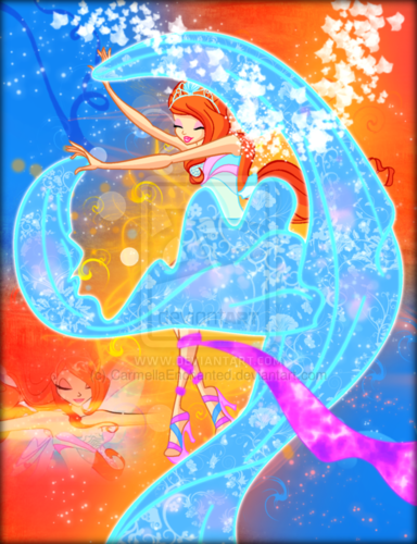 The Winx Club wallpaper probably with anime called Winx in Transformation: Harmonix (Bloom)