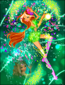 Winx in Transformation: Sirenix (Flora) - the-winx-club fan art