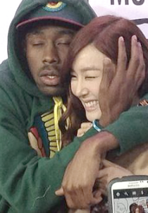 Tiffany at the Youtube Musica Awards. ft Tyler the Creator