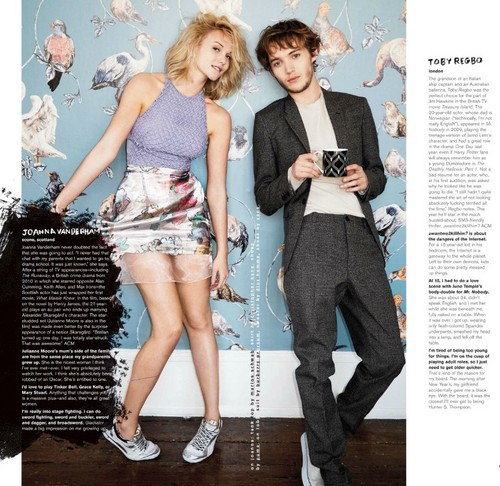 Toby Regbo wallpaper possibly with a playsuit, a hip boot, and a well dressed person entitled Toby on magazines