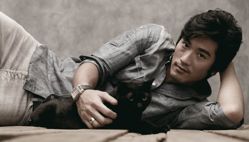 Godfrey Gao wallpaper possibly with a hip boot entitled Unknown photoshoot #1
