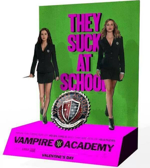 Vampire Academy pop up stand poster with Rose & Lissa! Coming soon at the theaters!