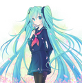 School Girl Miku - vocaloids fan art