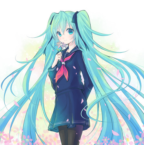 ボーカロイド 壁紙 titled School Girl Miku