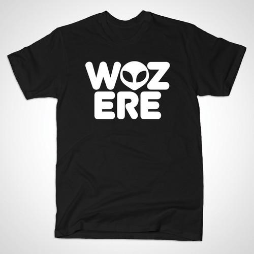 Aliens karatasi la kupamba ukuta with a jersey entitled WOZ ERE
