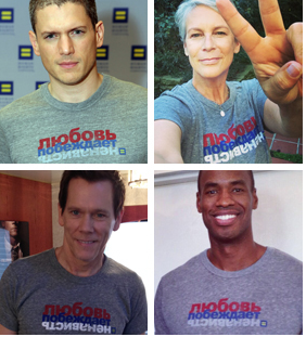 Wentworth Miller, Kevin Bacon, thêm Celebs tham gia HRC's #LoveConquersHate Campaign For Russian LGBTs