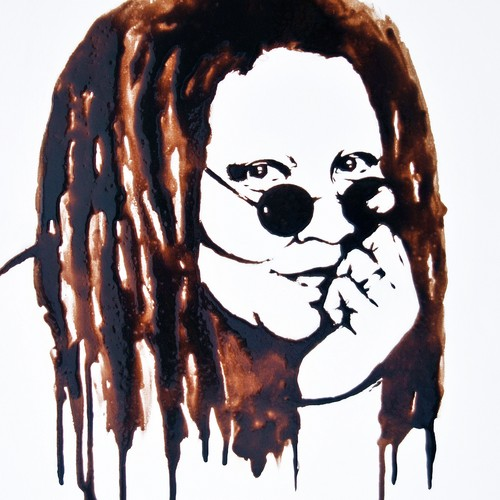 Whoopi Goldberg wallpaper containing a triceratops titled Whoopi Goldberg Chocolate Portrait