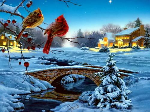 Winter wallpaper with a snowbank titled Winter Wallpaper