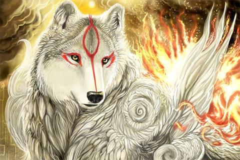 Elemental Wolf Background | www.pixshark.com - Images ...