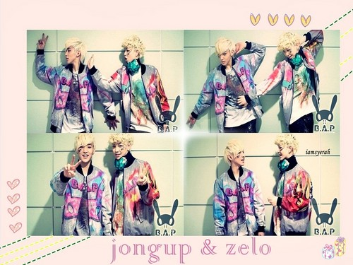 Zelo wallpaper titled º ☆.¸¸.•´¯`♥ Jongup and Zelo! º ☆.¸¸.•´¯`♥