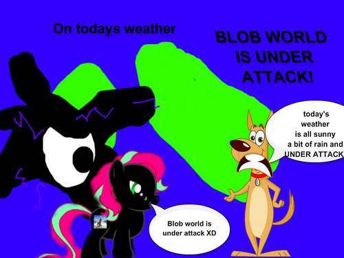 Dogs wallpaper containing anime titled blob world
